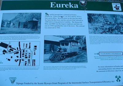 Not much is left of the ghost Town of Eureka
