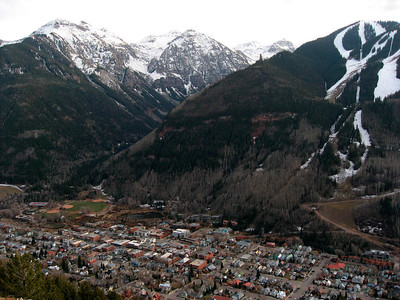 Another view of Telluride & ski slopes