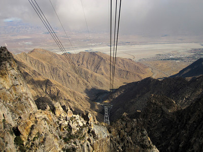 View on the desert & wind machines (Nov 2010)