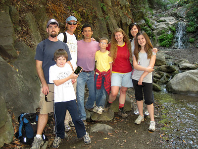 Hike with our friends (Joel, Siobhan, Ella & Owen) and in the middle next to Dave (our 3 friends from Sweden: Dave, Devik & Marika). July 2010