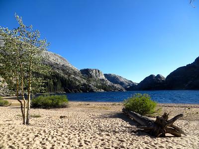 Amazing beach at Benson Lake: 7,581ft
