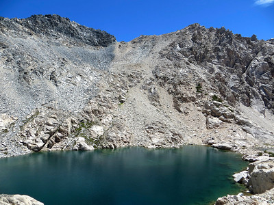 Lake at the bottom of Glen Pass