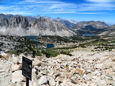 View from Kearsage Pass (Kearsage Lakes, Bullfrog Lake)