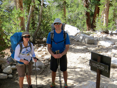We are going to hike North on the John Muir Trail.