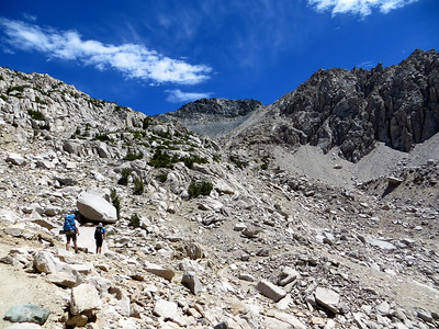 Climbing towards Glen Pass (11,978ft or 3651m)