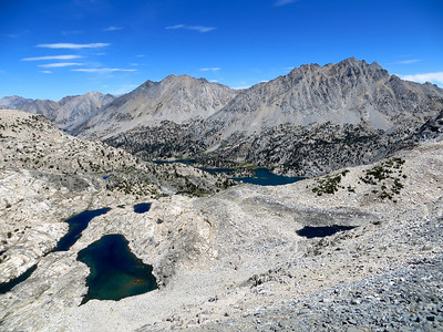 View from the top of Glen Pass (Rae Lakes in the background)