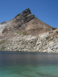 Monarch Lake (upper one) at an elevation of 10,400 feet