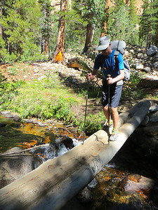 First crossing with a heavy pack: North Fork Creek