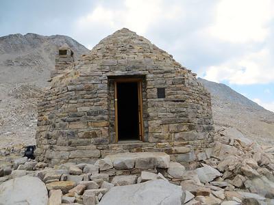 John Muir shelter at Muir Pass (11955ft) http://en.wikipedia.org/wiki/Muir_Pass