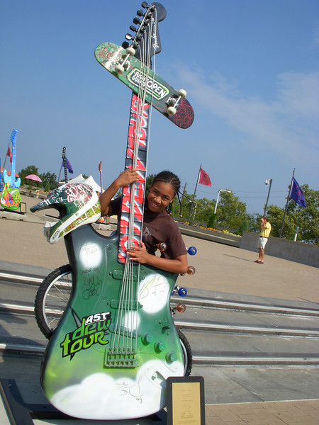 It was so much fun to see all of the guitars outside of the Rock and Roll Hall of Fame.  Each of us chose a few that we liked to take photos.