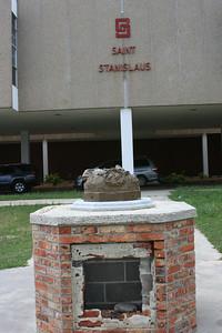 Saint Stanislaus (Dave's HIgh School) The heavy bronze Christ statue is gone
