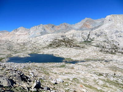 View from Kaweah Gap on the Great Western Divide (20 miles/32 km) at 10,700' (3261 meters)
