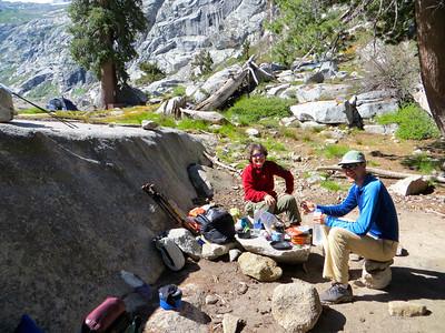 Day 4: Breakfast (camp at Hamilton Lake)