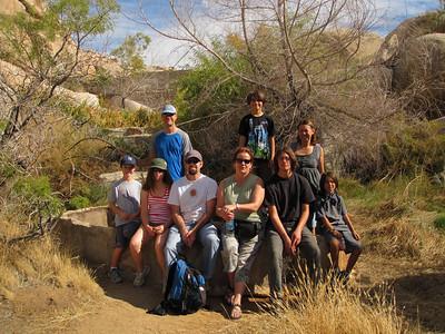 Our walking group: sitting from left to right: Owen, Ella, Joel, Melanie, Dane & McKenzie In the back: Dave, Matthew & Linda