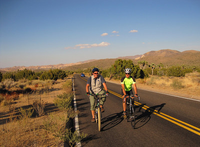 Dave & Don riding to Keys View