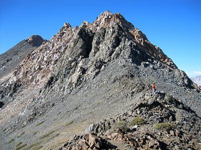 Stiff climb to Black Rock Pass.