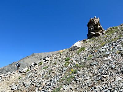 Long climb to Black Rock Pass