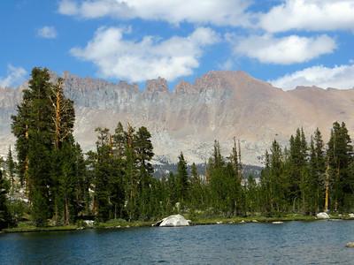 Camp at Little Five Lakes (view of Kaweah Peaks Ridge)