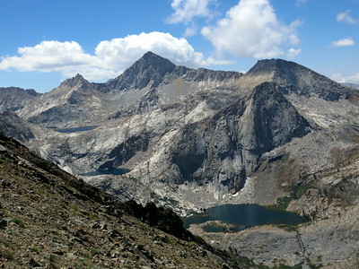 We love the view of those 3 lakes (almost at Black Rock Pass)