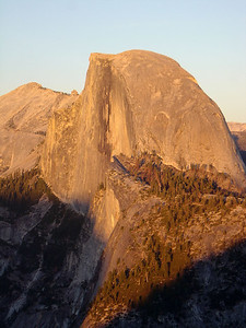 Sunset on Half Dome (October 2004). Photo taken at Glacier Point  For more photos: http://www.worldisround.com/articles/87283/index.html