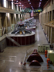 The hydroelectric generators at Hoover dam
