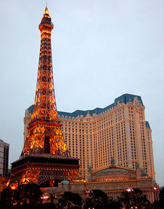 The replica Eiffel Tower at Paris Las Vegas is an exact reproduction of one of Europe's most famous landmarks, rendered meticulously at 1/2 scale.