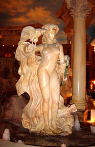 The immensely popular Caesars Palace (2,454 rooms) has been on the strip since 1966, and in many ways it represents Las Vegas itself.