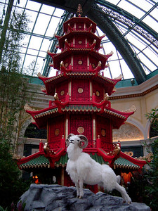 2003: Year of the Ram. Just beyond the lobby lies the Conservatory & Botanical Gardens which display the unique highlights of every season and holiday (Bellagio)