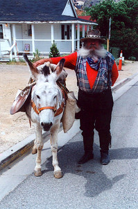 A gold miner with his donkey