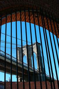 view of the beautiful Brooklyn Bridge