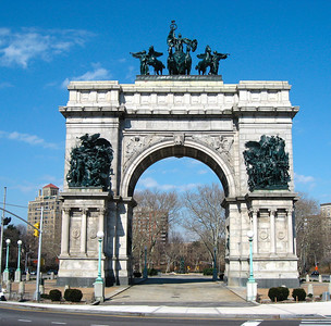 The Soldiers' and Sailors' Arch at Grand Army Plaza  http://en.wikipedia.org/wiki/Grand_Army_Plaza