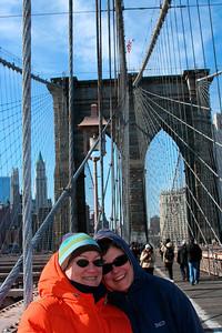 Christine & Tracy on the Brooklyn Bridge
