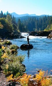 Flyfishing in the Umpqua River