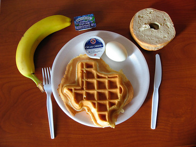 Texan waffle (photo taken last year in Dallas after missing our connection to SB)