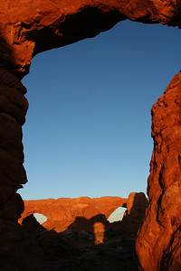 Sunset from Turret Arch (view on windows), 2007
