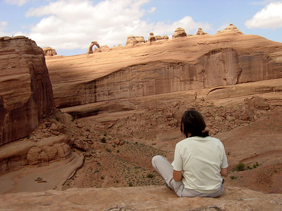 Delicate Arch viewpoint (Spring 2003)