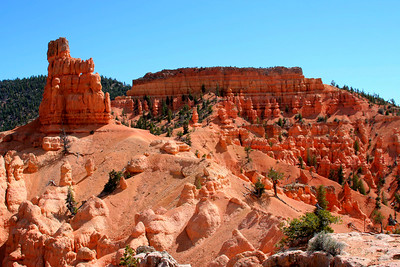 When you hike, you get a closer view of the hoodoos.