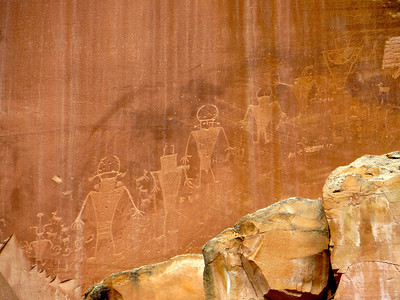 Petroglyph in Capitol Reef
