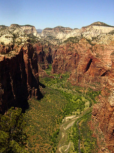 In 2003, for the first time, we hiked to Angel Landing's and got that wonderful view.