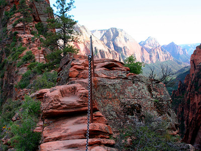 In 2005, we hiked again Angels Landing (this time at sunset)