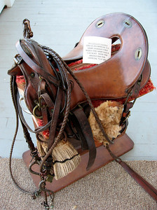 Old army saddle