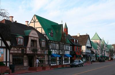 Rue touristique de Solvang