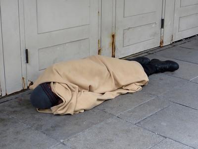 Homeless in the street