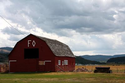 Pretty barn in Wyoming
