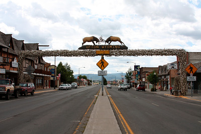 Longest elkhorn arch in the world in Afton, WY