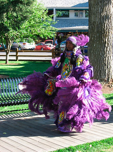 "Mardi Gras Indians to promote the concert ""The New Orleans All Star Jam-baylaya"" that we attended that evening. http://tipitinasfoundation.org/index.cfm?fuseaction=Page.ViewPage&PageID=482"