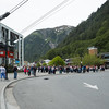 Cable Car rides to the mountain top in Juneau, Alaska.