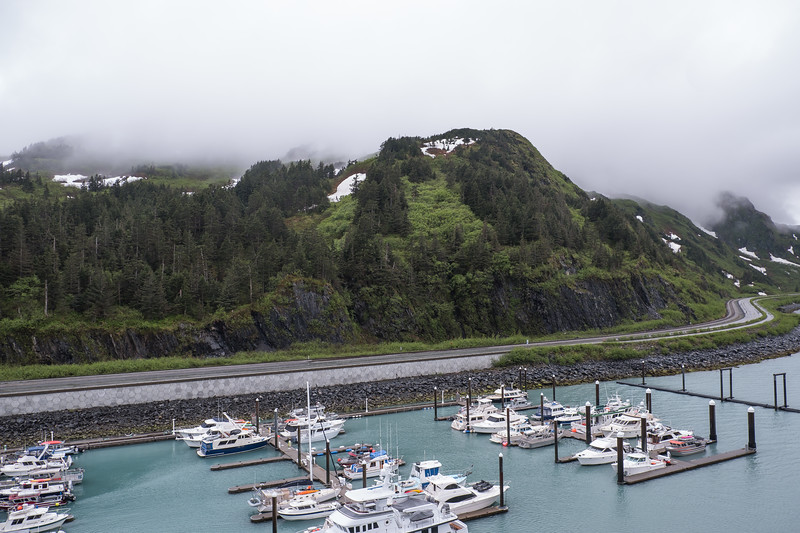View from the Star Princess in port at Whittier, Alaska.