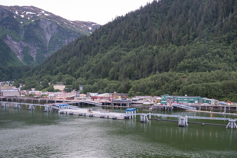 Leaving dock in Juneau, Alaska.