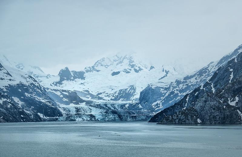 The massive John Hopkins Glacier in Glacier Bay National Park, Alaska.